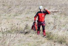 Cabin ski lift saving Royalty Free Stock Images