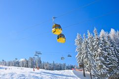 Cabin ski lift.  Ski resort Schladming . Austria Stock Photos