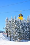 Cabin ski lift.  Ski resort Schladming . Austria Stock Images