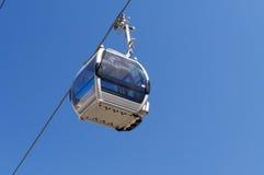 Cabin on Ski lifts to Shymbulak ski resort Royalty Free Stock Images