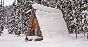 Cabin in the snow. Picture was taken in Canada Royalty Free Stock Photos
