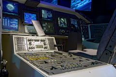 The cabin space shuttle. Control mechanism in the cabin space shuttle Royalty Free Stock Photography