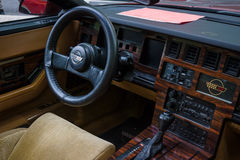 Cabin of a sports car Chevrolet Corvette (C4) Targa, 1988 Royalty Free Stock Image