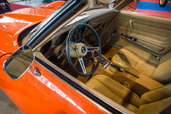 Cabin of sports car Chevrolet Corvette Stingray Coupe (C3), 1975. Stock Photography