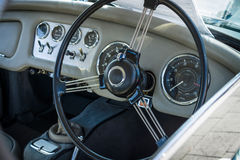 Cabin a sports car Daimler Dart SP250 Hardtop, 1961. Royalty Free Stock Image