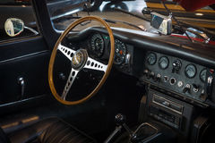 Cabin of sports car Jaguar E-Type 4.2 Serie I roadster, 1967. Stock Images