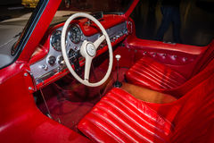Cabin of a sports car Mercedes-Benz 300 SL Gullwing coupe, 1955 Stock Photography