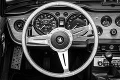Cabin of the sports car Triumph TR5 Stock Photo