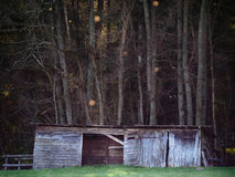 A cabin or stable in the woods Royalty Free Stock Image