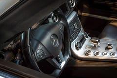 Cabin of supercar Mercedes-Benz SLS AMG (R197), 2012 Stock Photos