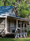 Cabin In The Swamp. A Cabin By The Swamp In Florida Royalty Free Stock Photography