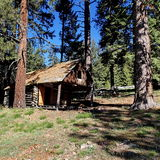 Cabin in the trees Royalty Free Stock Photography