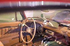 Cabin View of Old Fashioned Car Stock Image