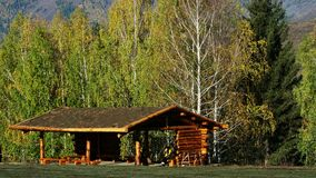 Cabin in village Royalty Free Stock Images