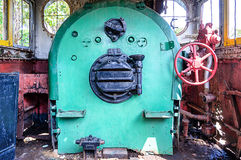Cabin of vintage steam locomotive Stock Photography