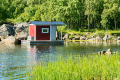 Cabin on water Royalty Free Stock Photos