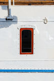 Cabin window on a old vintage ship Stock Photography