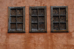Cabin Window Trio Royalty Free Stock Photography