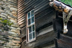 Rustic Cabin Window in North Carolin Royalty Free Stock Image