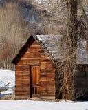 Cabin in winter. Log cabin in winter Royalty Free Stock Image