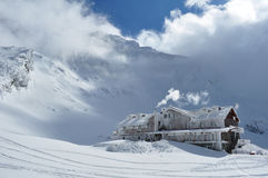 Cabin in winter Stock Photo
