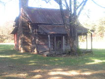 Cabin in the woods Royalty Free Stock Image