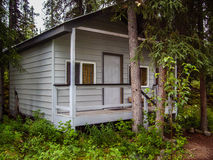 Cabin in the Woods. A cabin in the woods. (Alaska, United States stock images