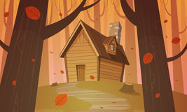 Cabin in woods - Autumn Royalty Free Stock Photo