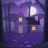 Cabin in woods Royalty Free Stock Photo