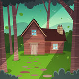 Cabin in woods Royalty Free Stock Photography