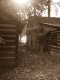 Cabin in the woods Royalty Free Stock Photography
