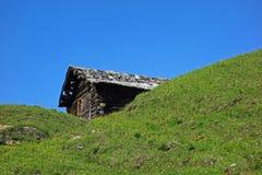 Cabina, Alpe di Siusi, Tirolo del sud, Italia Fotografia Stock