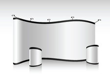 Cabina in bianco della fiera commerciale di vettore Fotografie Stock