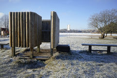 Cabina congelata per la travestimento Fotografia Stock Libera da Diritti