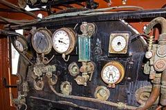 Cabina d'annata della locomotiva a vapore Immagine Stock