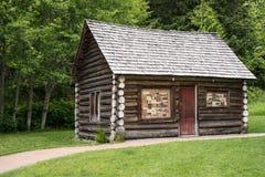 Cabina d'annata a Whistler, BC, il Canada Immagine Stock