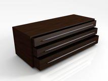 cabina de almacenaje de caoba 3D Ilustración del Vector