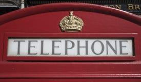 Cabina de British Telecom Foto de archivo libre de regalías