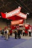 Cabina de Colgate en la mayor reunión dental de NY en Nueva York Foto de archivo libre de regalías