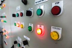 Cabina de control eléctrica Fotografía de archivo libre de regalías