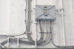 Cabina de control eléctrica Imagenes de archivo