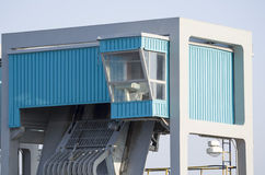 Cabina de control industrial Fotos de archivo