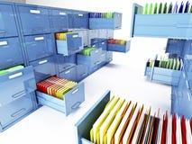 Cabina de fichero 3d Imágenes de archivo libres de regalías