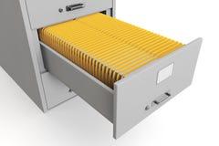 Cabina de fichero con las carpetas Imágenes de archivo libres de regalías