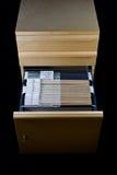 Cabina de fichero y 43 carpetas Imágenes de archivo libres de regalías
