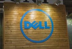 Cabina de la compañía de Dell en ECO 2015, feria profesional de la electrónica Fotografía de archivo