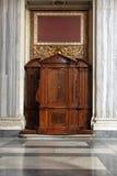 Cabina de la confesión Imágenes de archivo libres de regalías