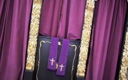 Cabina de la confesión Fotografía de archivo libre de regalías