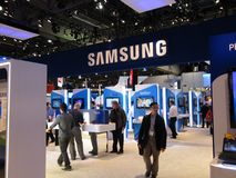 Cabina de la convención de Samsung en CES 2010 Imagen de archivo libre de regalías