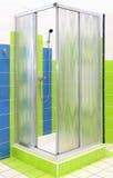 Cabina de la ducha foto de archivo libre de regalías
